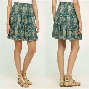 Anthropologie Pina Skirt NWT Pineapple XL Moss New